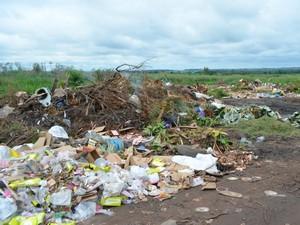 Lixo orgânico é despejado de forma irregular pelos moradores (Foto: Paula Casagrande/G1)