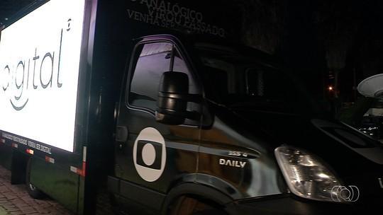 Caminhão com telão gigante divulga a TV Digital em Goiânia e Aparecida; veja rota