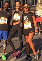 Izabel Goulart participa de corrida de em Paris: 'A mais rápida que já fiz'