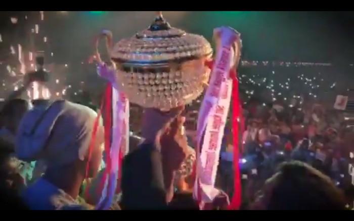 Ronaldinho homenagem Índia