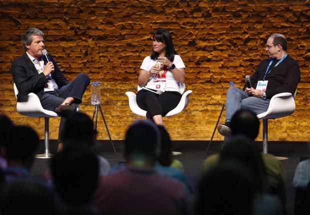 """Painel """"Startups é só para millenials?"""", no Festival de Cultura Empreendedora (Foto: Ricardo Cardoso/Editora Globo)"""
