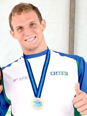 Pepeu é destaque no Torneio Centro-Oeste de Natação (Foto: UNECOM – Sistema FIEMT)