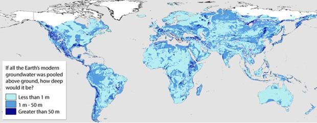 Mapa quantifica pela primeira vez água escondida debaixo da terra no mundo (Foto: Divulgação/Nature Geoscience)
