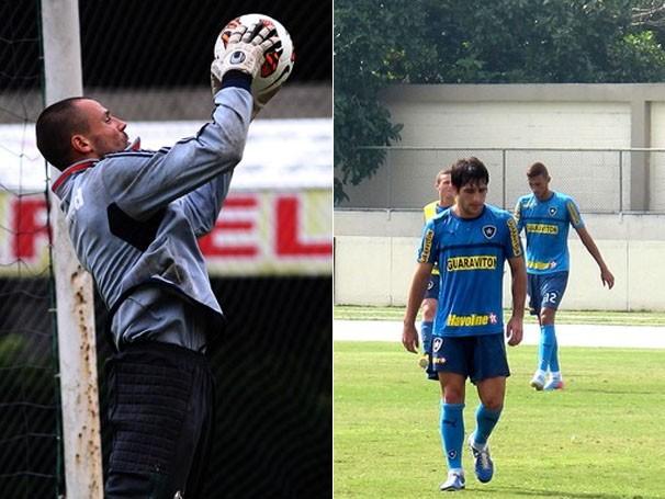 Cavalieri, do Fluminense, treina para encarar o ataque do Botafogo (Foto: Nelson Perez/Flickr Fluminense/Thales Soares/Globoesporte.com)