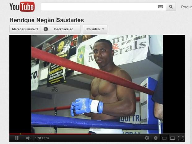 Amigos prestam homenagem na internet ao lutador de MMA Henrique Negão, encontrado morto no domingo (19), em Nova Iguaçu, na Baixada Fluminense (Foto: Reprodução de internet)