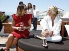Famosos brasileiros aproveitam almoço em Cannes