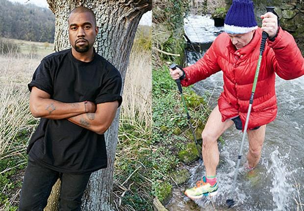 Kanye West e o fotógrafo Juergen Teller (Foto: Reprodução)
