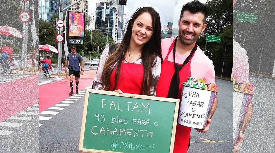 Priscila e Tiago vão se casar em 7 de setembro de 2016 (Foto: Divulgação)