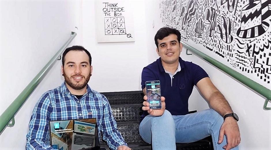 Luiz Freneda (esq.) e Eduardo Santos (dir.), fundadores do aplicativo Field Control (Foto: Divulgação)