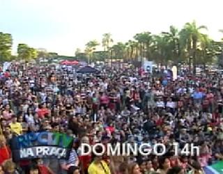 RPC TV na Praça Maringá (Foto: Reprodução)