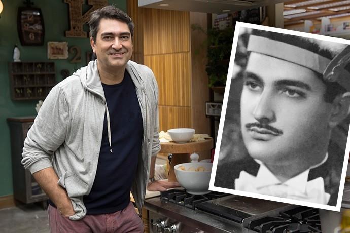 Zeca Camargo e seu pai (Foto: Renato Rocha Miranda/TV Globo e Arquivo Pessoal)