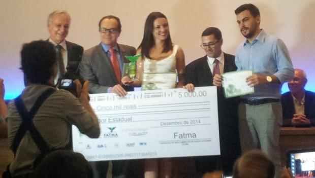 Reportagem da RBS TV foi vencedora do grande Prêmio Fatma (Foto: Janara Nicoletti/RBS TV)