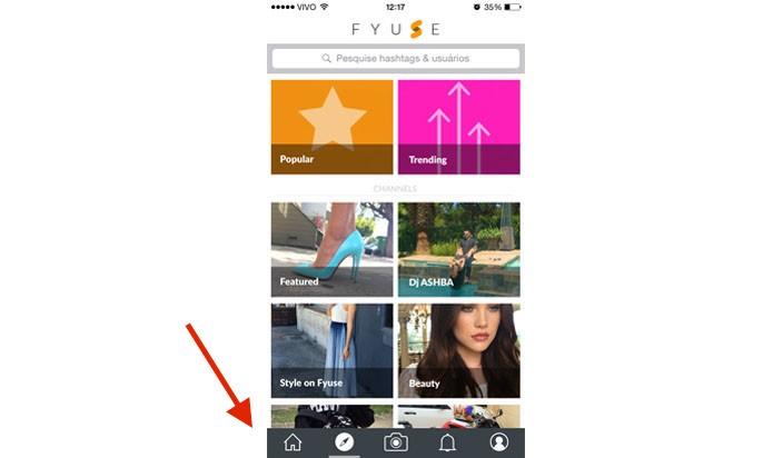 O app Fyuse é bem parecido com o Instagram (Reprodução/ Gabriella Fiszman)