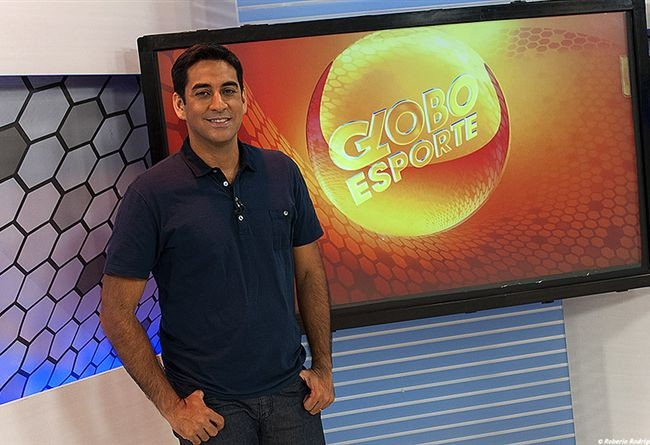 George Guilherme é apresentador e editor chefe do Globo Esporte PE (Foto: Globo Nordeste)