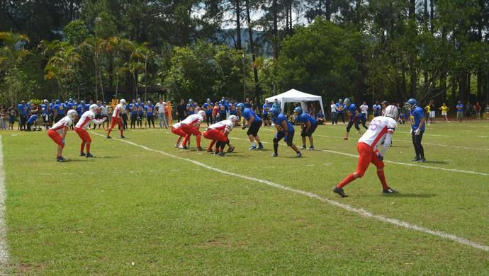 Mogi Desbravadores x São José Jets Super 8 futebol americano (Foto: Pedro Vieira)