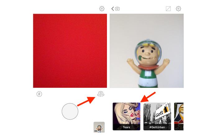 Fazendo uma selfie com Prisma para usar como foto de perfil do Facebook (Foto: Reprodução/Marvin Costa)