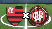 Atlético PR x Flamengo (Foto: Reprodução)