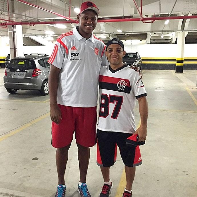 Cristiano Felicio do Flamengo, com José Aldo (Foto: Reprodução / Instagram)