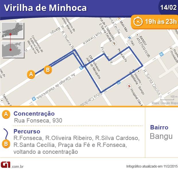 Virilha de Minhoca (Foto: Arte G1)