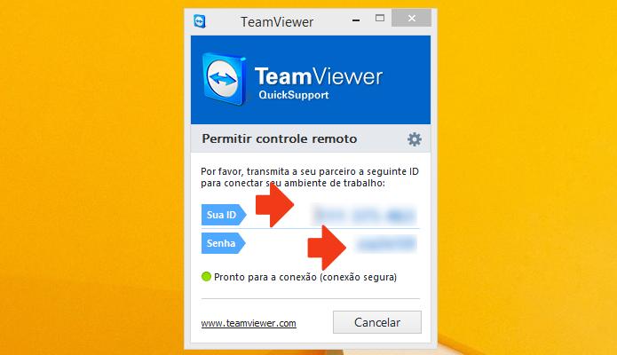 Anote ID e senha para acessar o PC remotamente (Foto: Reprodução/Paulo Alves)