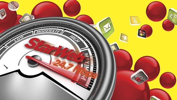 StarWeb - A Velocidade média de seus clientes de fibra ficou em 24.7 Mega, velocidade bem acima da média brasileira.  (Foto: Star Web)