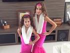 Vera Viel posta foto do look das filhas antes de aniversário
