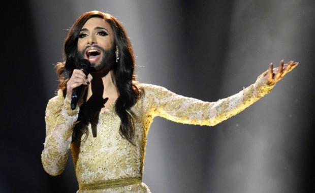 Conchita Wurst é uma das 26 finalistas do Eurovision, cuja grande final acontece neste sábado (Foto: AFP)