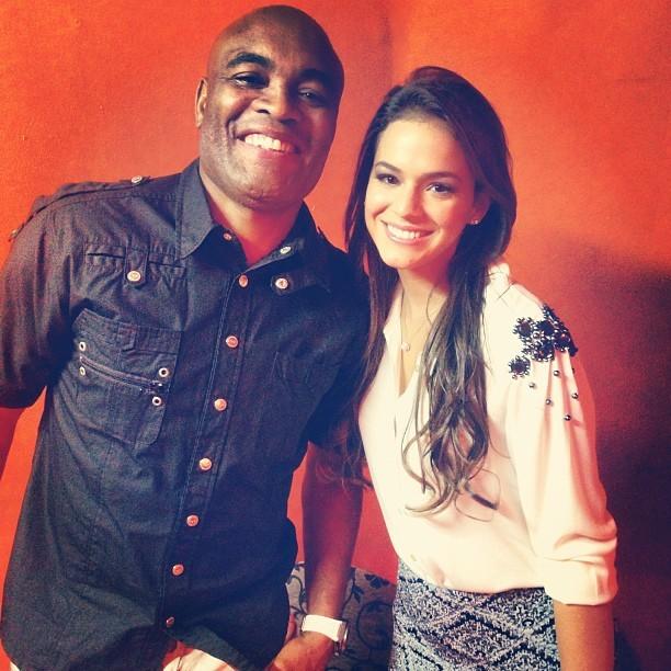 Anderson Silva e Bruna Marquezine (Foto: Instagram/ Reprodução)