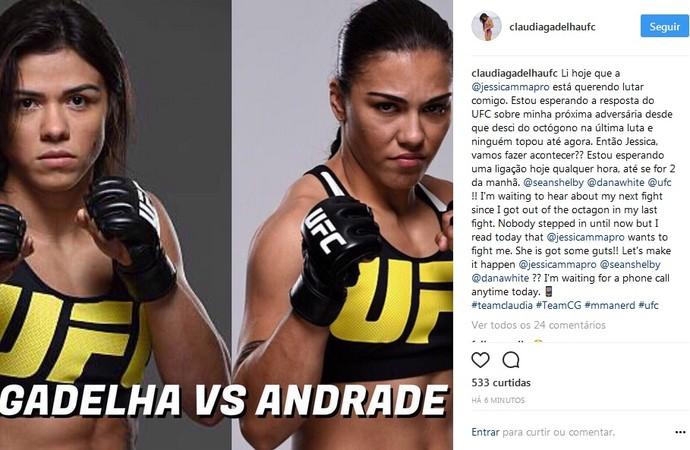 Post Claudia Gadelha (Foto: Reprodução / Instagram)