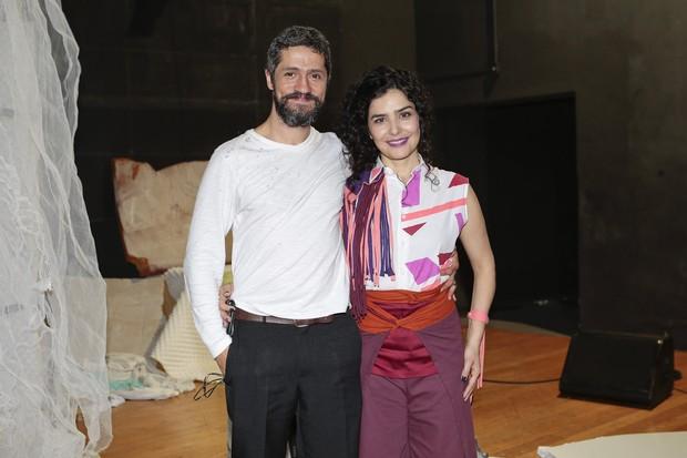 Letícia Sabatella e o marido, Fernando Alves Pinto  (Foto: Rafael Cusato/Brazil News)