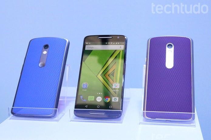Moto X Play oferece versões com sheels coloridas (Foto: Nicolly Vimercate/TechTudo)