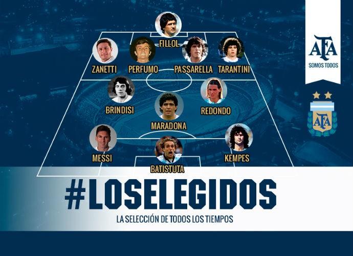 Os eleitos para a seleção argentina de todos os tempos - AFA