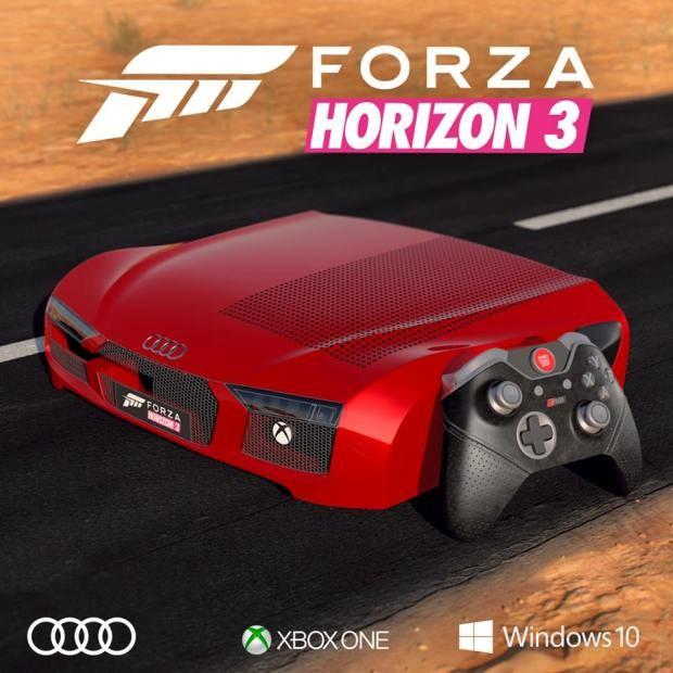 Xbox One versão Audi R8 (Foto: Reprodução/Facebook)