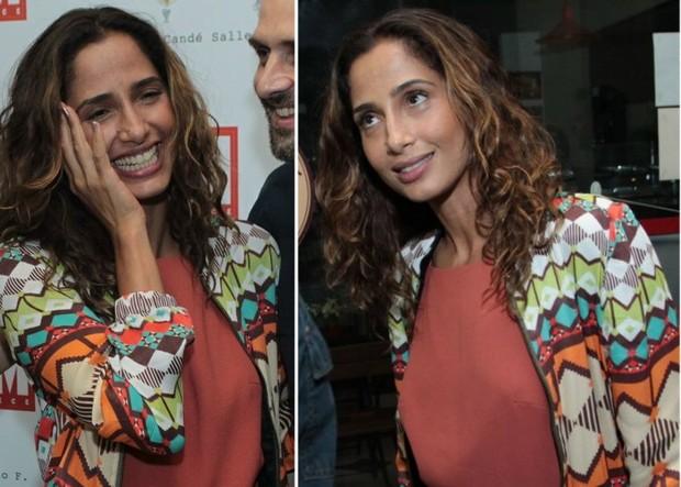 Camila Pitanga em pré-estreia de cinema no Rio (Foto: Marcello Sá Barreto/Ag News)
