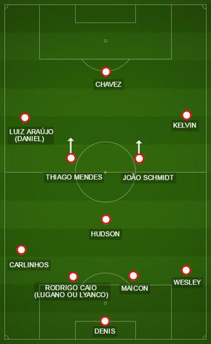 São Paulo para encarar o Palmeiras (Foto: GloboEsporte.com)