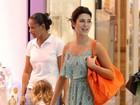 Fernanda Paes Leme e Fernanda Rodrigues se encontram no shopping