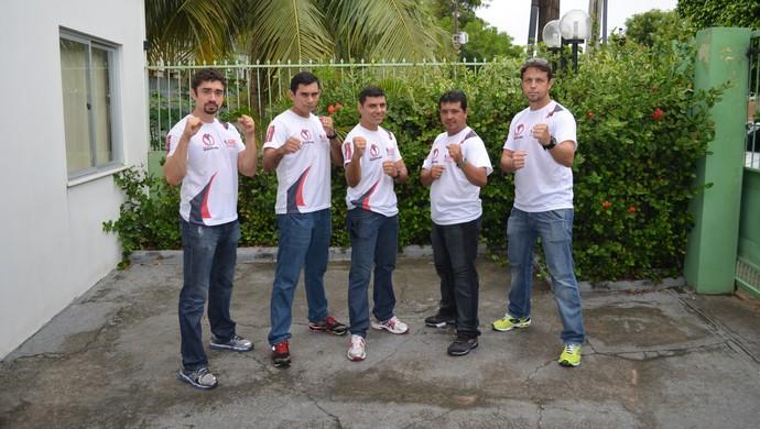 Professores prontos para a aula inaugural da Azam em Boa Vista (Foto: Bruno Willemon)