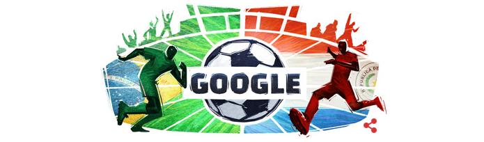 Quartas de final da Copa América, Brasil x Paraguai, ganha Doodle do Google (Foto: Reprodução/Google)