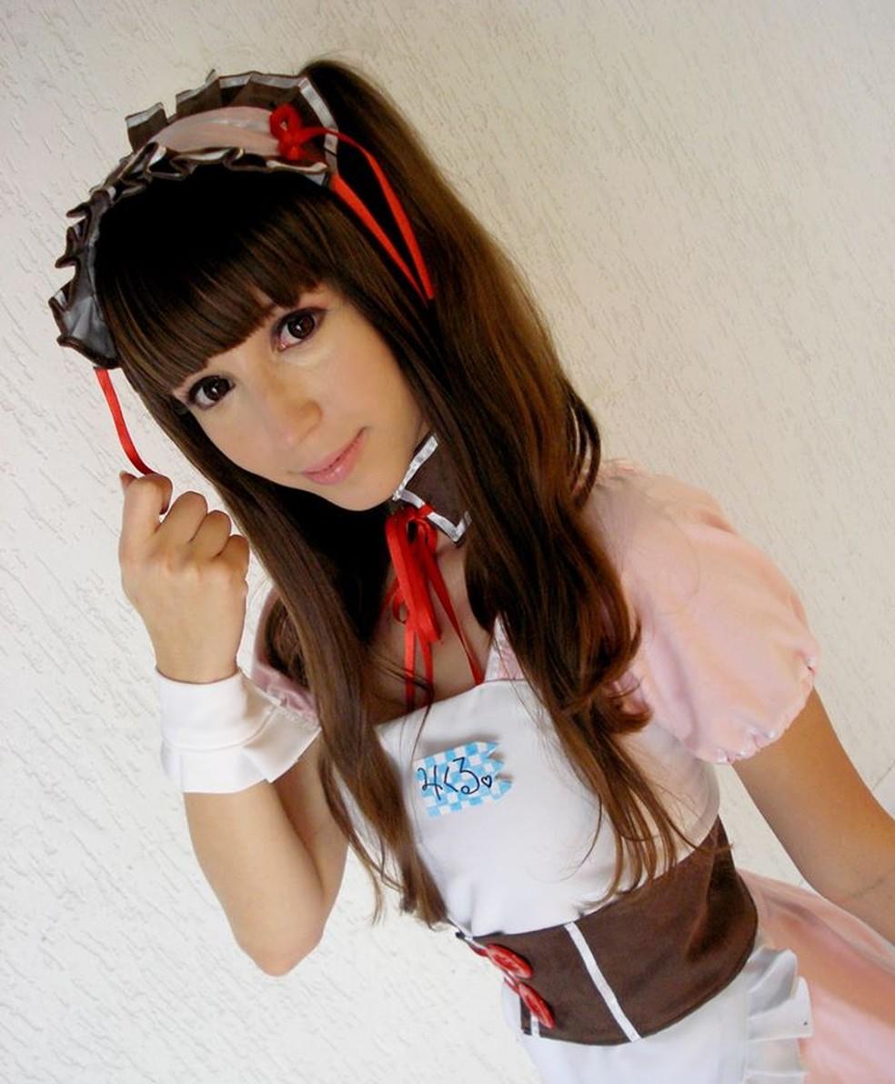 Renata como Mikuru Asahina (Foto: Acácia de Almeida/Arquivo pessoal)