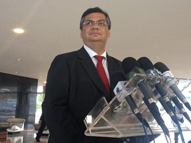 O governador do Maranhão, Flavio Dino, durante entrevista no Palácio do Planalto (Foto: Filipe Matoso / G1)