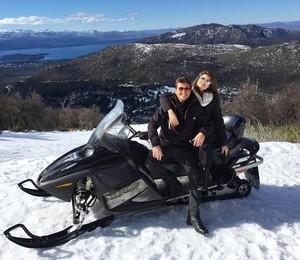 Camila e Klebber em Bariloche (Foto: Arquivo Pessoal)