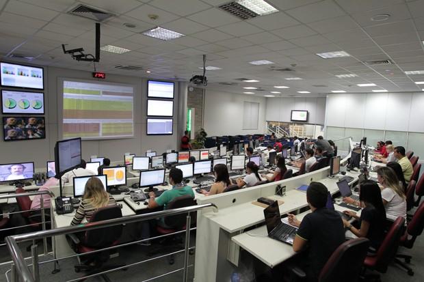 Centro de Operações de Rede da Algar Telecom (Foto: Divulgação)
