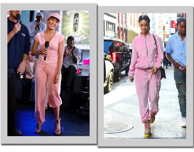 Jennifer Lopez no começo dos anos 2000 e Rihanna em 2016 (Foto  Getty Images 02f835c17b