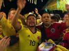 Brasileiros e colombianos festejam vitória e trocam provocações no Rio