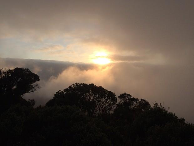 Na Serra, termômetros não devem passar dos 12ºC à tarde (Foto: Larissa Vier/RBS TV)