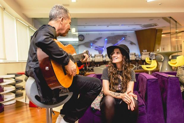 Hyldon e Ana Cañas (Foto: Diego Padilha)