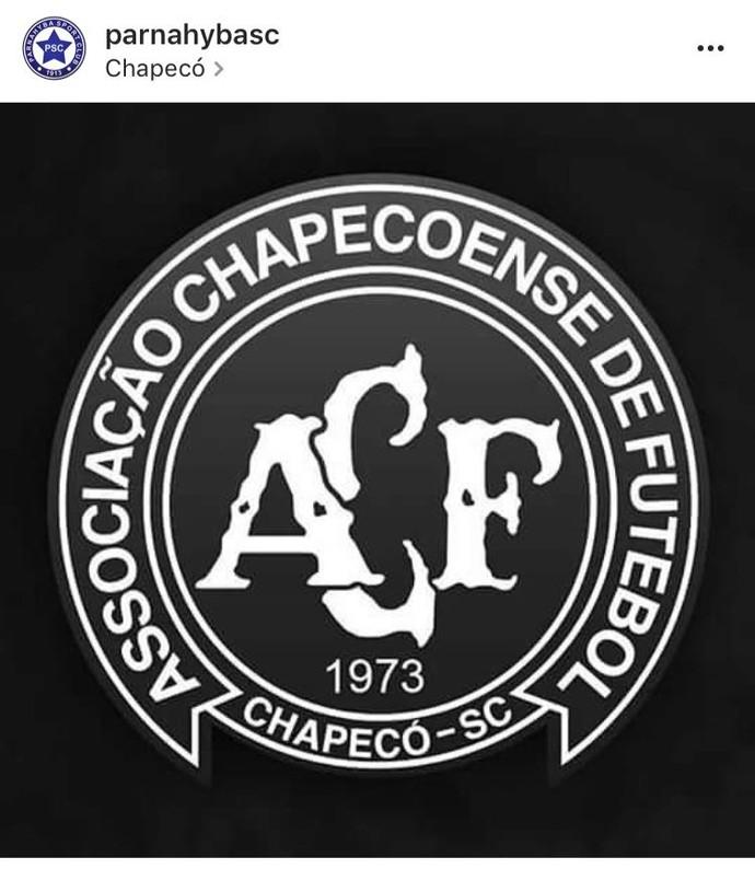 Parnahyba lamenta acidente Chapecoense (Foto: Reprodução/Instagram)