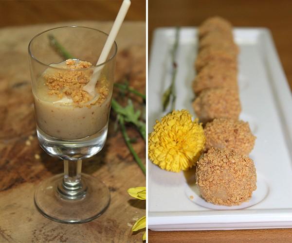 Duas versões saborosas de brigadeiro de paçoca (Foto: Divulgação)