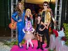 Rodrigo Faro e Vera Viel dão festa à fantasia para as filhas em São Paulo