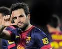 Sem Messi, Fàbregas dá show em atropelo do Barcelona sobre lanterna